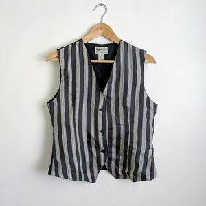 vintage 90's 100% silk striped vest